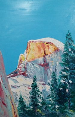 SOLD Half Dome at Sunset (available in Giclee)
