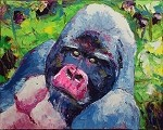 SOLD Silver-Gorilla (Available in Giclee)