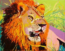 SOLD-Cecil Mombasa - Lion (Available in Giclee)