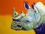 SOLD Ruckus-Rhino (Available in Giclee)