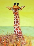 SOLD Stretch-Giraffe (Available in Giclee)