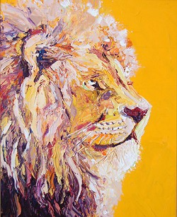 SOLD Leo-Lion (Available in Giclee)